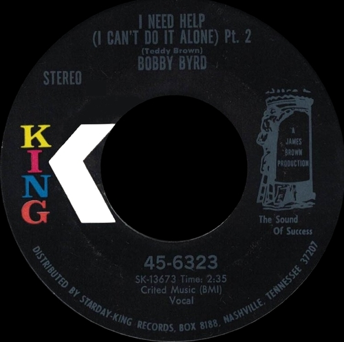 Bobby Byrd : Single SP King Records 45-6323 [ US ]