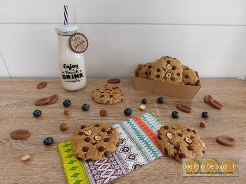 Cookies vegan au sarrasin, noisette et chocolat