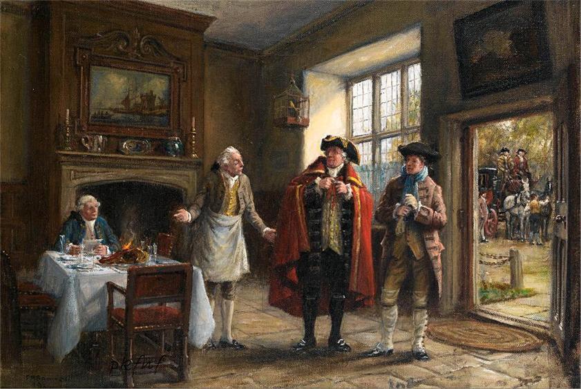 风俗画... ...弗兰克莫斯贝内特(1874年至1953年)