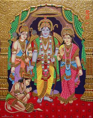 tanjore painting rama sita