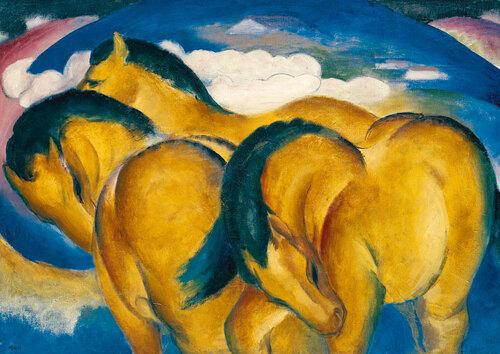 Le musée idéal : les chevaux bleus et les chevaux jaunes de Franz Marc