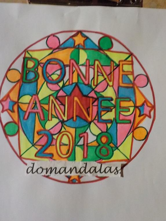 DOMANDALAS  coloriage BONNE ANNEE
