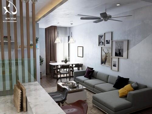 Top 5 mẫu thiết kế căn hộ chung cư 50m2 2 phòng ngủ đẹp nhất hiện nay