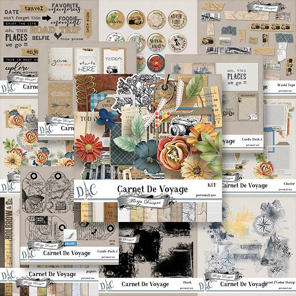 Carnet de Voyage { Bundle PU } by Florju Designs