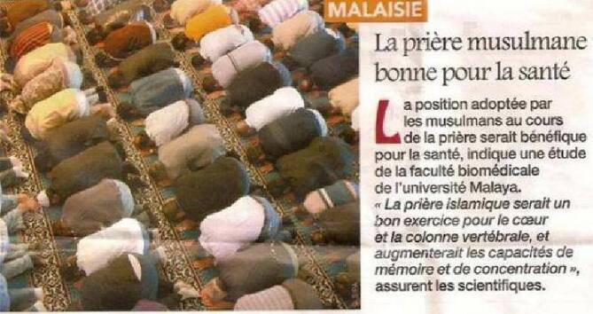 La science révèle que la prière musulmane est bonne pour la santé