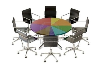 8022613-pie-chart-table-with-chairs-isolated-on-white-background