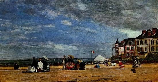 Eugène Boudin, La plage de Trouville