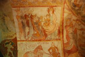 Les fresques de la crypte