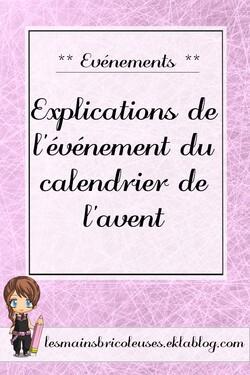 Explications de l'événement du calendrier de l'avent 2017