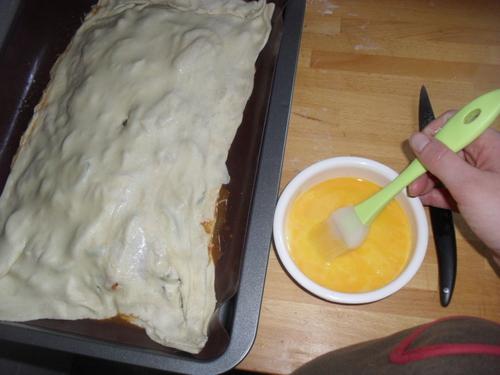 une tourte carré façon ratatouille pour finir ma pâte feuilletée