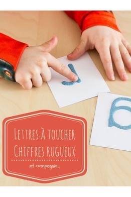 Lettres à toucher, chiffres rugueux et compagnie