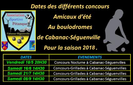 Amicaux à Cabanac-Séguenville 2018.