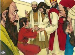 Jésus chasse un démon chez un enfant
