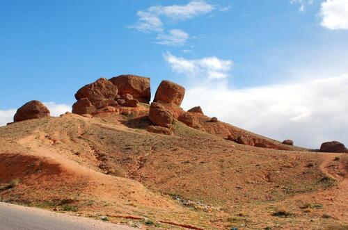 Les fameux rochers de Skoura