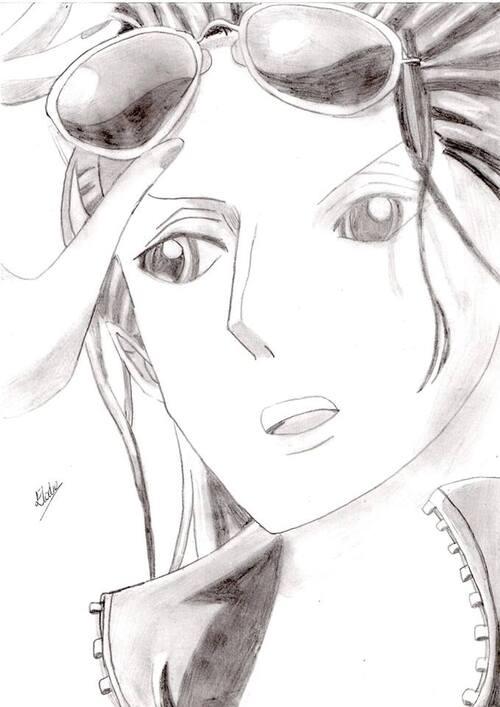 Nico Robin (One Piece) ~ by ¤ Elodie - Manga O Ekaki ¤