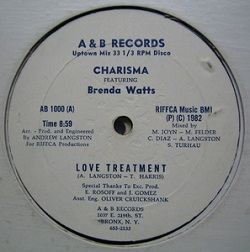 Charisma Feat. Brenda Watts - Love Treatment