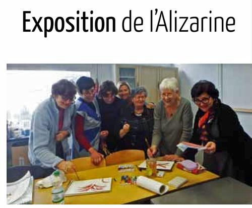 Exposition de l'Alizarine du 23 juin au 1er juillet.