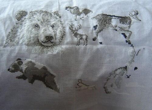 Un tableau: les animaux de la fôret.