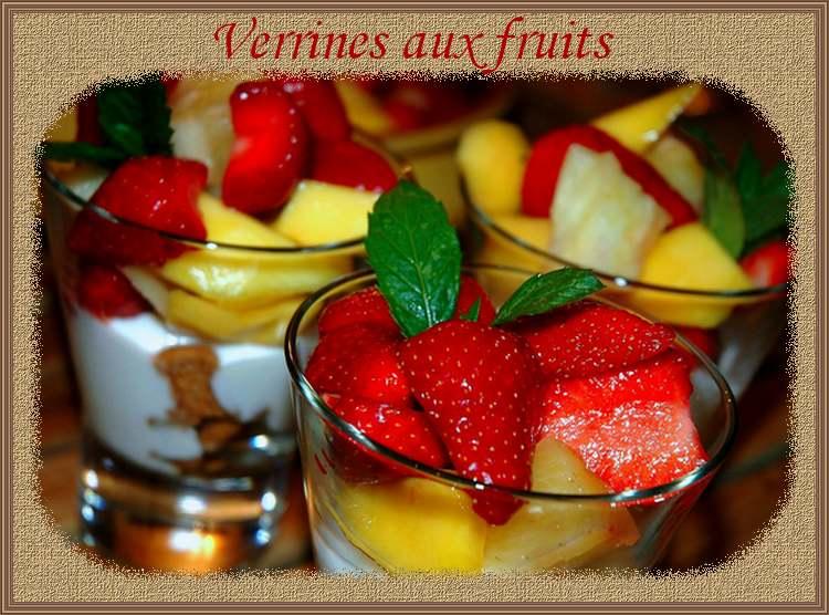 Recette de cuisine : Verrines de fruits