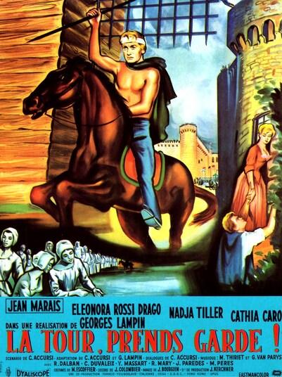 LA TOUR PREND GARDE - BOX OFFICE JEAN MARAIS 1958