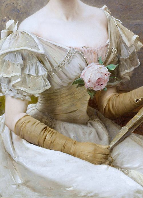 Václav Brozík (detail) At the ball,1898.Czech,1851-1901.