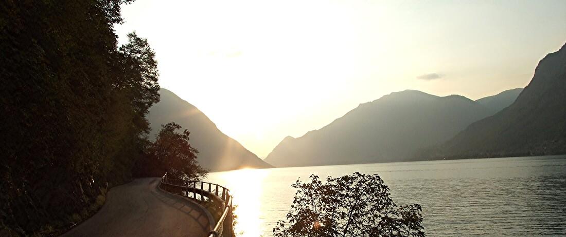 1-Lugano - le lac dans la brume du soir
