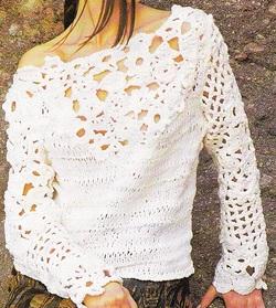 Pull tricot crochet