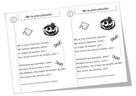 Poèmes Halloween