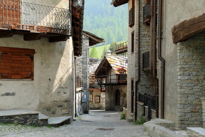 Piémont, village de Chianale