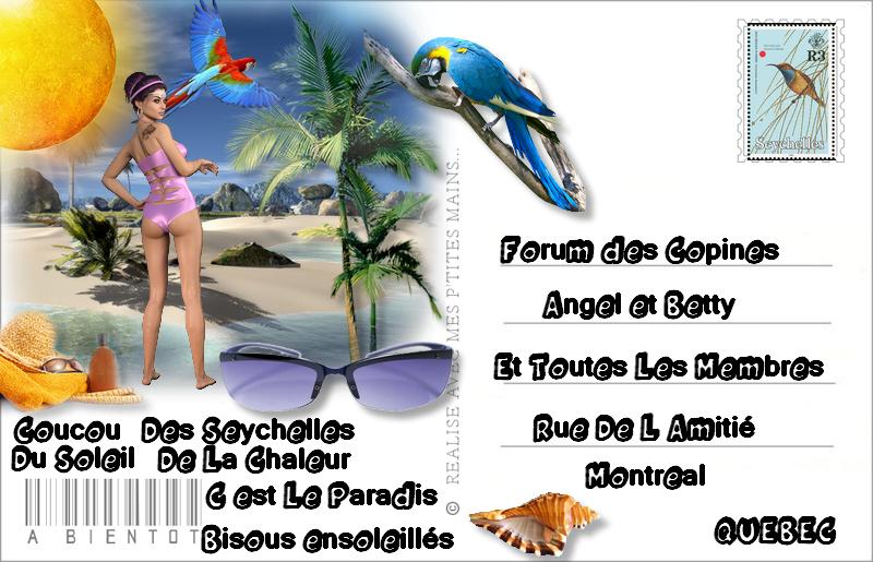 Defi carte postale de Célysia