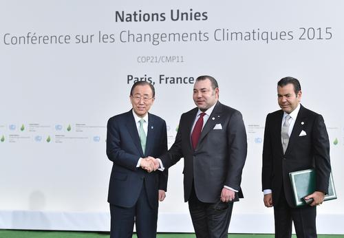 Photos Mohamed 6 au conférence de climat en france
