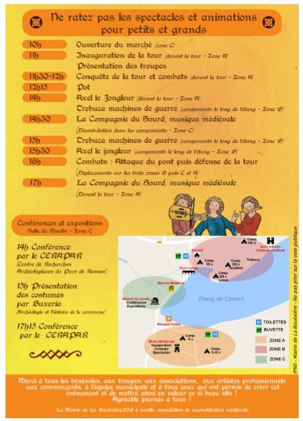 Programme fête médiévale à Chevré