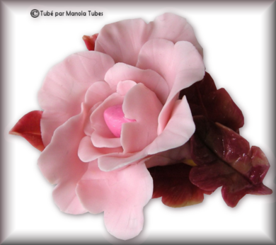 Tube fleur en porcelaine 2980