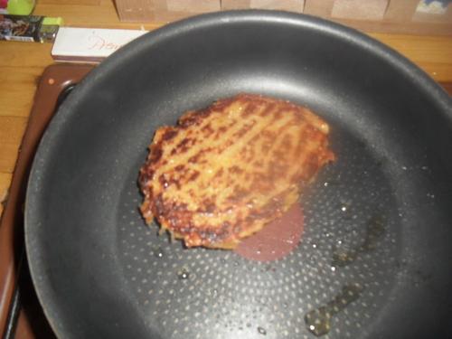 Ce midi, c'est hamburger maison avec Steak végétarien fait maison!!