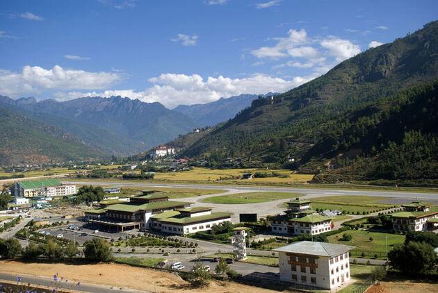 Aéroport Paro Bhoutan