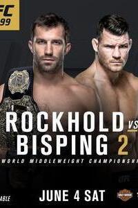 """UFC 199 Rockhold vs Bisping 2 : Tous les yeux seront rivés sur le titre des Poids Moyens que Luke ROCKHOLD (15-2-0) remet en jeu ce dimanche face une légende vivante du MMA Britannique, Michael BISPING #4 (29-7-0). L'Américain a remporté le titre face à Chris Weidman en décembre dernier. Ce dernier devait d'ailleurs prendre sa revanche lors de l'UFC 199 avant de se blesser et d'être remplacé par """"The Count"""". De son côté, Bisping est sur trois victoires consécutives dont une contre le Brésilien Anderson Silva en février dernier à l'UFC London. Le Champion en titre peut toutefois compter sur ses capacités de «finisseur», puisqu'il a remporté ses cinq derniers combats avant la décision. : Carte principale : Dominick Cruz vs. Urijah Faber  Max Holloway vs. Ricardo Lamas  Dan Henderson vs. Hector Lombard  Bobby Green vs. Dustin Poirier...-----...Réalisé par : Ultimate Fighting Championship Acteurs : Dominick Cruz, Urijah Faber,Max Holloway,Ricardo Lamas Genre : UFC, MMA, Arts-Martiaux, Sports de combat Date de sortie : 4 Juin 2016 Langue & qualité : VO HDTV"""