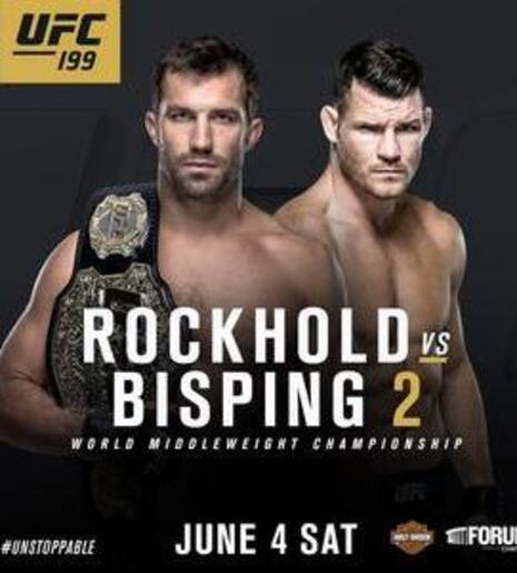 affiche UFC 199 Rockhold vs Bisping 2
