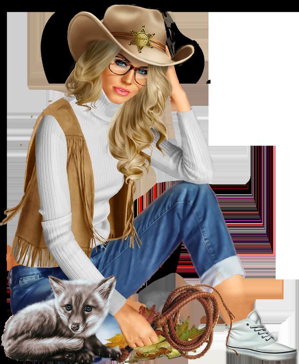 Tubes Femmes Cowboy
