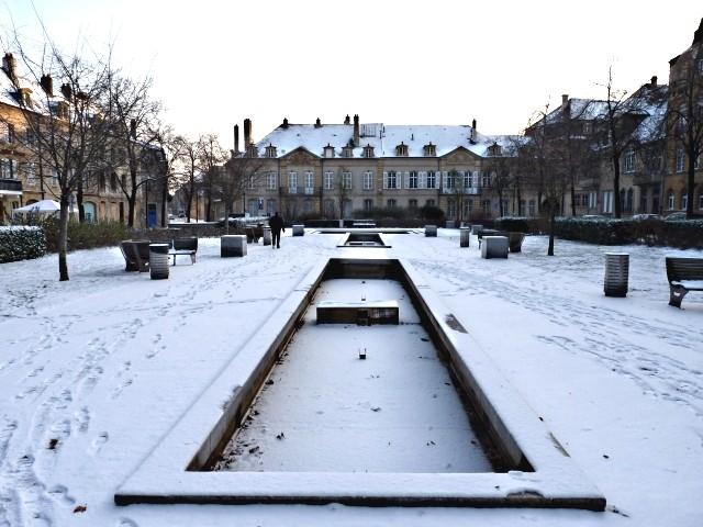 Centre Pompidou Metz neige 22