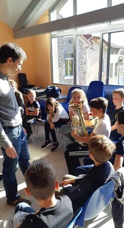 Classe orchestre en CM2