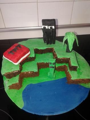 minecraft gâteau d'anniversaire  Minecarft birthday cake