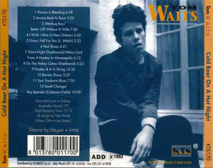 Live: Tom Waits - Cold beer on a hot night