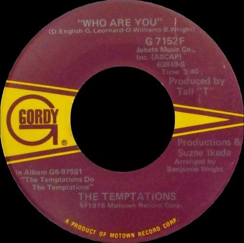 "The Temptations : Album "" Do The Temptations "" Gordy Records G6-975S1 [ US ]"