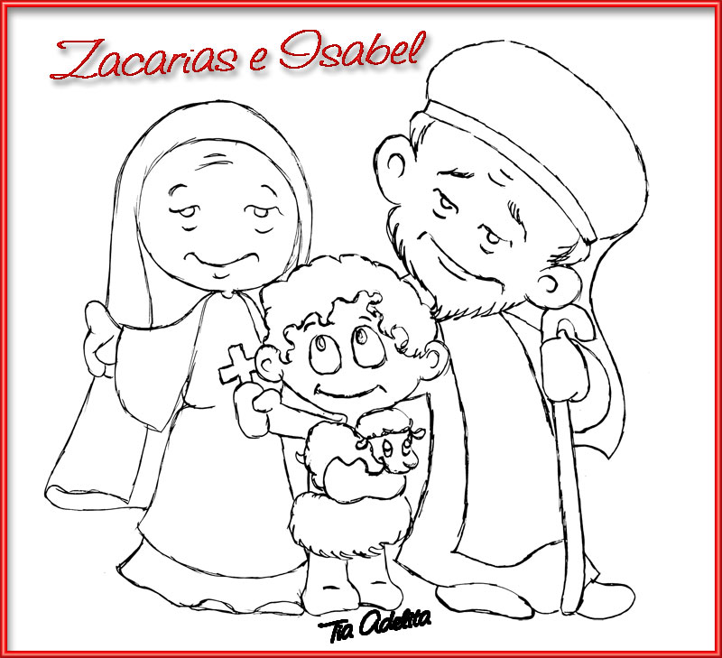 Coloring Pages Zacharias Elizabeth : Free coloring pages of the visitation