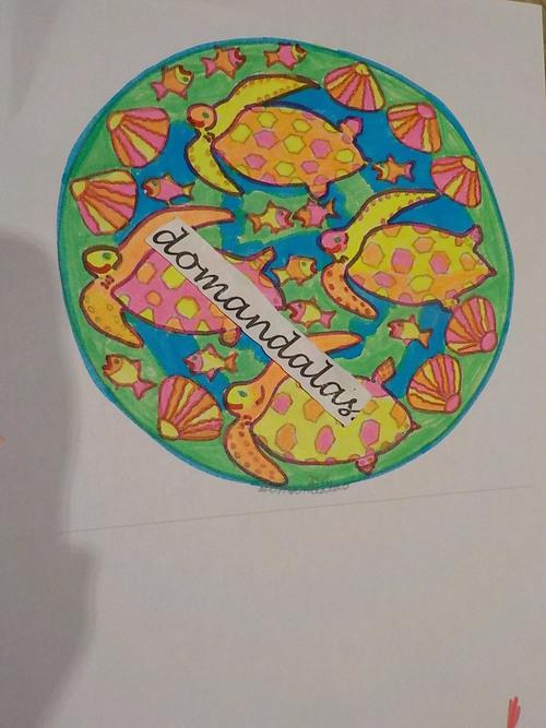 DOMANDALAS  mandala des 4 tortues création personnelle