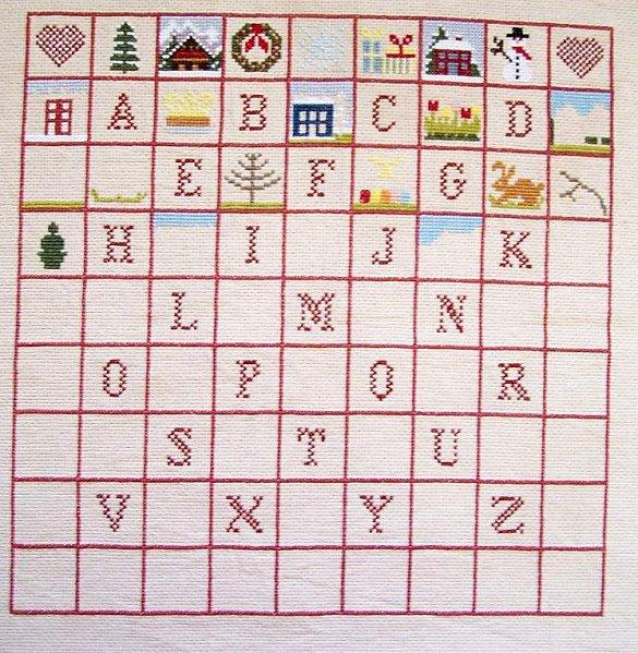 Damier2-alphabet complet