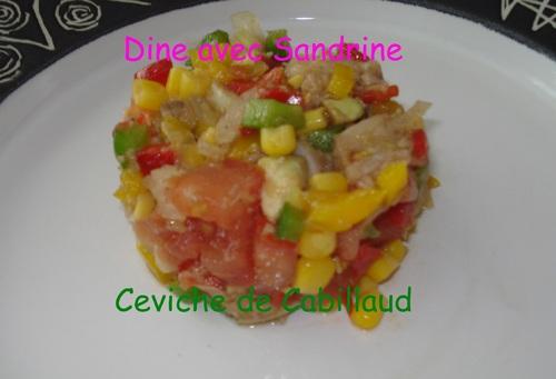 Le Ceviche de Cabillaud