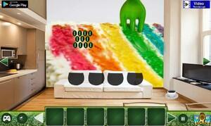Jouer à Colorful rainbow house escape