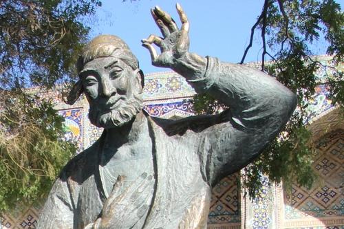 Boukhara : la place Liab-i-Haouz et la statue de Nasreddine Hodja