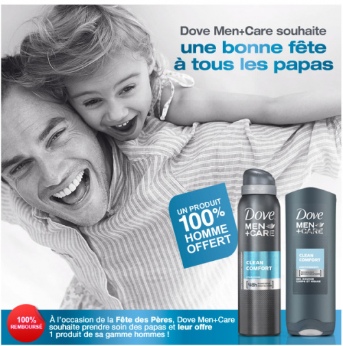Gel douche Dove men care gratuit